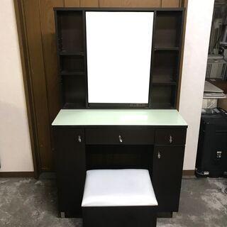 ニトリ家具 ドレッサー 鏡台 スツール付 椅子 鏡 北TK5