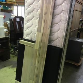 状態良好☆シングルベッド Granz ホワイト マット付き - 家具