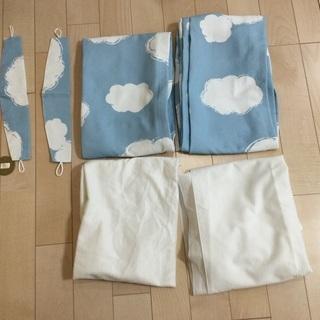 ニトリ 雲柄 遮光カーテン(レースカーテン付き)