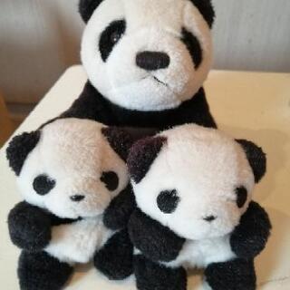 【無料】パンダの親子のぬいぐるみ(おまけ付き)