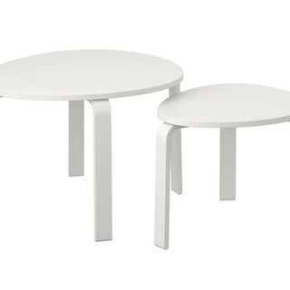 IKEA SVALSTA テーブル2点セット ホワイト