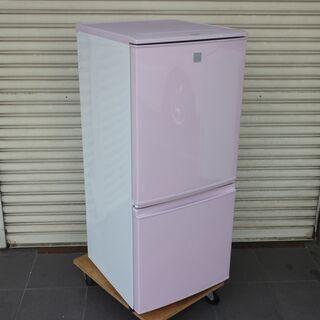 シャープ 冷凍冷蔵庫 17年製 SJ-14E4-KP SH…