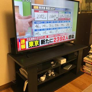 液晶テレビ(テレビ台付き)の画像