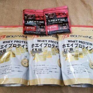 ホエイプロテイン3kg(1kg×3)、クレアチン240粒(120...