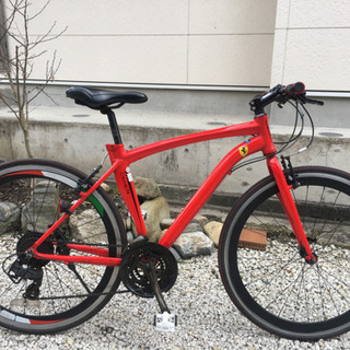 190.真っ赤なフェラーリ(クロスバイク)