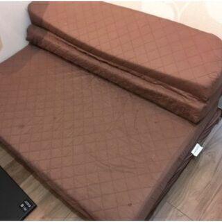 3000円 ソファベッド セミダブル 高反発入り 折りたたみ