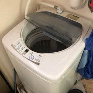 【交渉中】2009年製5.0kgハイアール全自動洗濯機あげます