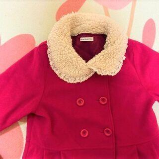 ★美品!!140~150㎝用「GITA(ジータ)」Aラインのおしゃれコート・濃いピンク色★ - 子供用品