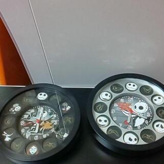 シルバー時計ジャンク品と、黒い時計二個