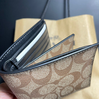 【ネット決済・配送可】【新品未使用】COACH コーチ 2つ折り財布