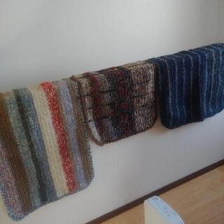 毛糸のマット