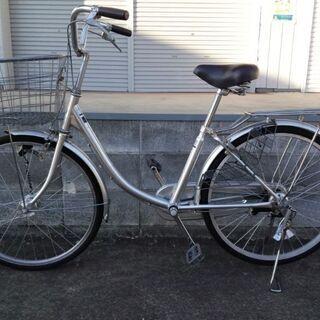 買い物自転車ママチャリ 丸石チェリッシュ 24インチ オートライ...