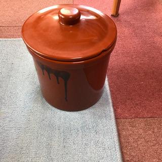梅干しなどの保存容器(未使用)鋳物国産