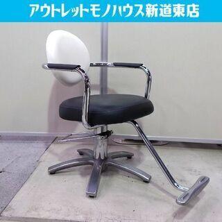 タカラベルモント スタイリングチェア TSUKI 白/黒 理容椅...