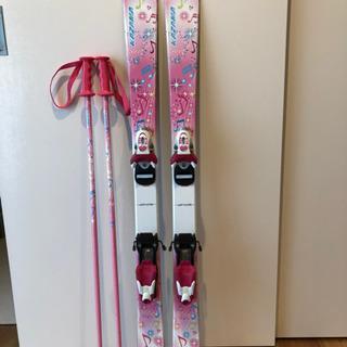 スキー板とストック 子供用の画像