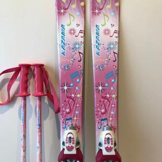 スキー板とストック 子供用 - 刈谷市
