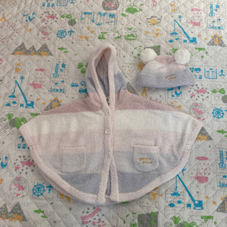 赤ちゃん用 ポンチョ 帽子 ジェラートピケ