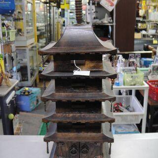五重の塔 小物入れ 木製 引き出し5段 置物
