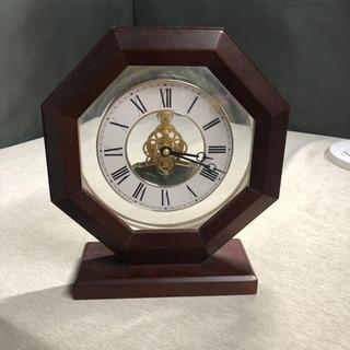 シチズン置き時計 MX828 メカスケルトン 木目調 ☆そ…
