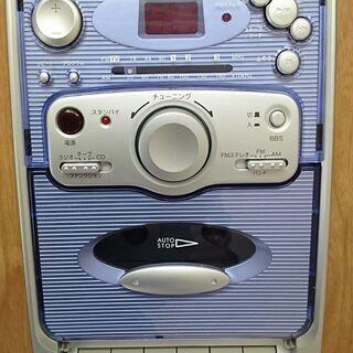 受付終了  0円でお譲りします。CDコンポラジカセ・中古品難あり - 家電