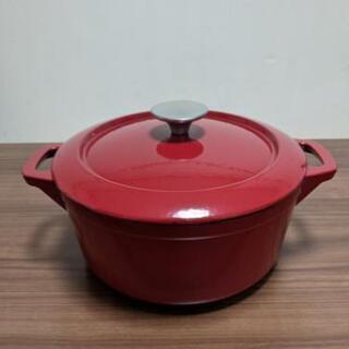 【新品・未使用品】無水調理の出来る鋳物ホーロー鍋