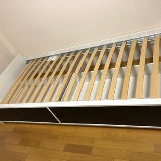 イケア IKEA ベッド FLAXA ベッドフレーム 収納&ベッ...