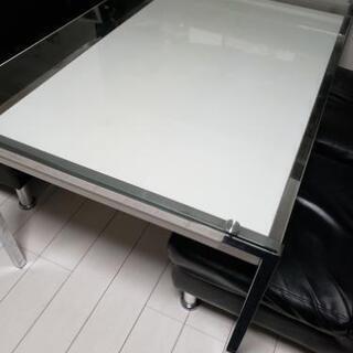ガラス天板 ダイニング 食卓 テーブル