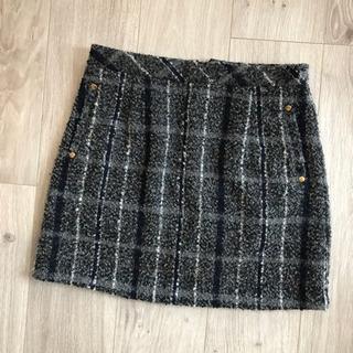 【REDYAZEL】ツイードスカート ミニスカート チェックスカート