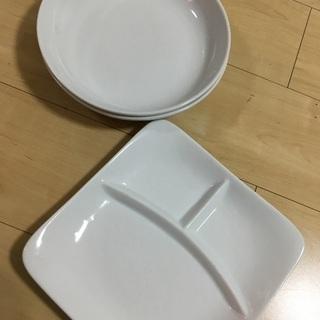 白 ホワイト プレート皿