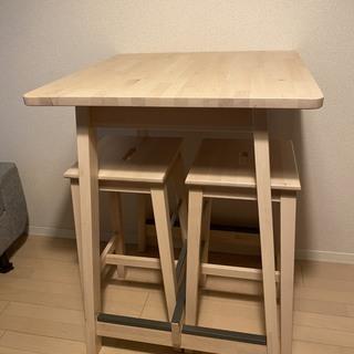 【ほぼ新品】IKEA 北欧デザインのおしゃれなダイニングテーブルセット