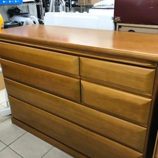 天然木素材 ローチェスト 120cm×45cm×85cm