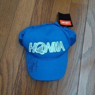 新品HONMAのゴルフキャップ。笠りつ子さん直筆サイン入り