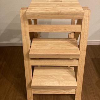 木製折りたたみ式踏み台/脚立(3段)