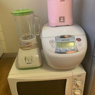 冷蔵庫電子レンジ炊飯器洗濯機テレビ お譲り先決まりました。 - 豊中市