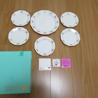 値下げしました。¥500 HANAE MORI ハナエ・モリ パーティーセットMB-2201 ミート皿 ×1 プチトレー ×5 未使用品 森英恵 − 愛媛県
