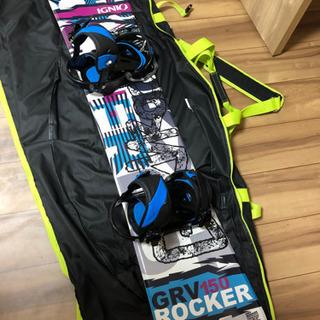 (お話し中)スノーボード板+ビンディング+バッグ