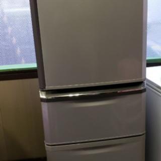 1214-1 335L MITSUBISHI 3ドア冷蔵庫 20...