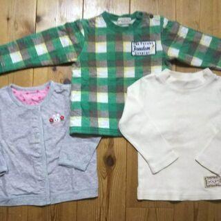 子供服 秋冬物90-95 長袖3点&長ズボン3点 計6点ま…