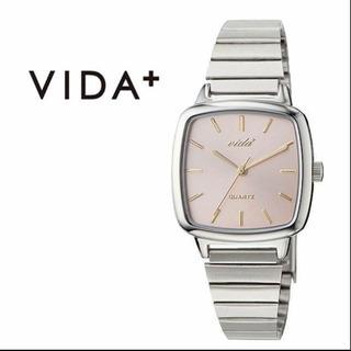 VIDA+ アンティーク調 腕時計 VD-J86014SLVPNK