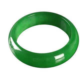 【ネット決済・配送可】天然翡翠バングルブレスレット green ...