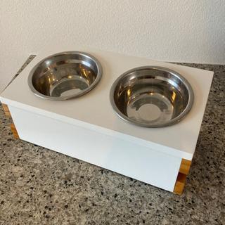 猫用食器台 フ ードボウル付の画像
