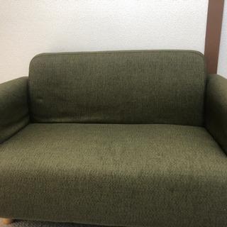 深緑 2人掛けソファ