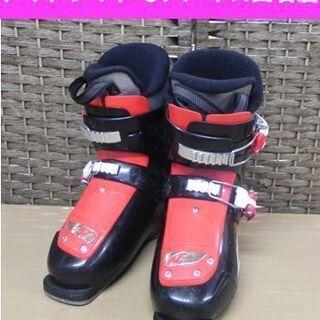 ノルディカ 21.5㎝ ジュニア用スキーブーツ 黒×赤   FI...