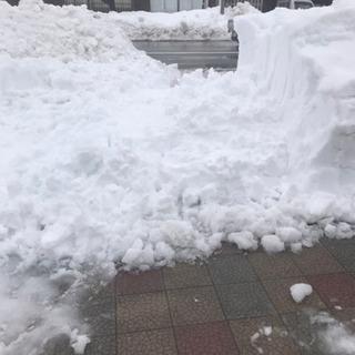 雪かきの手伝い
