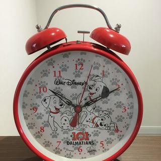 【昭和レトロ】でか目覚まし時計 ディズニー101匹わんちゃん