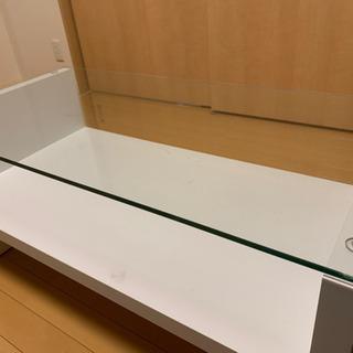 ガラスローテーブル-ホワイト