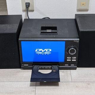 【ジャンク品】DVDデッキ+CD+i-Phone+AMFMラジオ コンポの画像