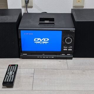 【ジャンク品】DVDデッキ+CD+i-Phone+AMFMラジオ コンポ - 横浜市
