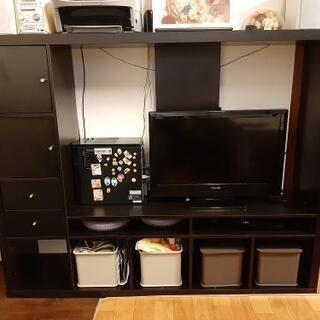 値下げ IKEA イケア テレビボード EXPEDITEシリーズ ブラックの画像