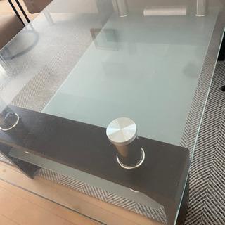 【ネット決済】ガラステーブル ローテーブル センターテーブル